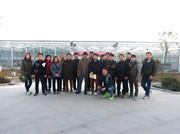 韩国农业考察团参观安信黄瓜苗温室
